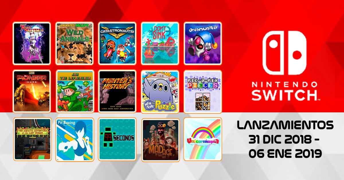 Proximo Lanzamientos De Juego Para Nintendo Switch Del 31 Dic 2018
